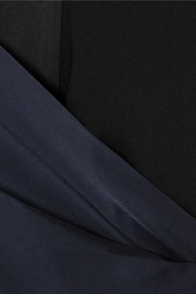 Diane von Furstenberg Alexander zweifarbiges Wickelkleid aus Crêpe und Satin in Midilänge