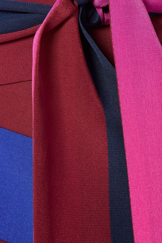 Diane von Furstenberg Striped silk crepe de chine wrap midi skirt