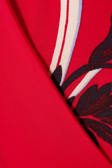 Diane von Furstenberg Jumpsuit aus Crêpe mit Blumendruck und Wickeleffekt