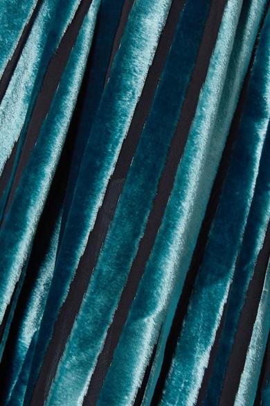 Rabatt Bester Großhandel Bester Ort Zum Verkauf Diane von Furstenberg Wickelbluse aus Devoré-Samt mit Satinbesätzen Amazonas Preiswerte Art Und Stil OBvFMnF8k