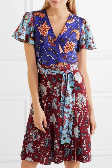 Diane von Furstenberg Flutter Wickelkleid aus Seiden-Jersey mit Blumenprint