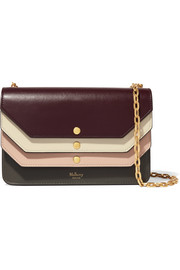 Multiflap leather shoulder bag