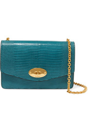 Darley small lizard-effect leather shoulder bag