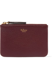 Mulberry Textured-leather pouch
