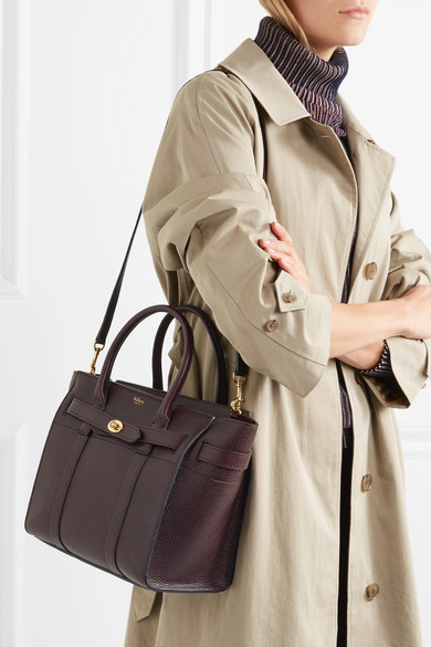 f9fe8144187 Mulberry | The Bayswater Zipped small textured-leather tote | NET-A ...