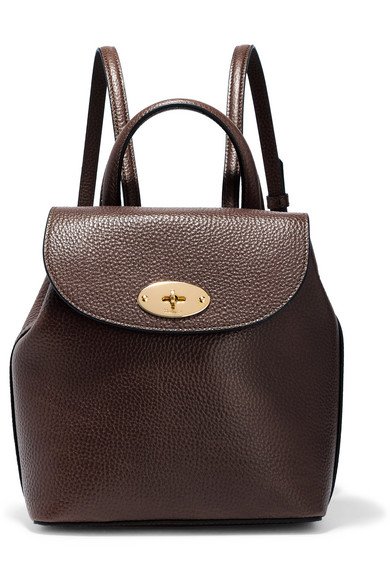 c78923d446 Mulberry. Bayswater mini textured-leather backpack