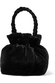 STAUD Grace crushed-velvet tote