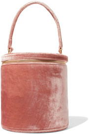 STAUD Vitti crushed-velvet tote