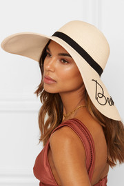 Eugenia Kim Bunny embroidered woven paper sunhat
