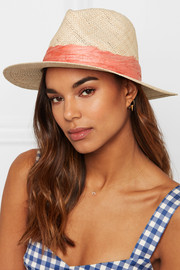 Courtney feather-embellished straw sunhat