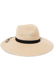 Emmanuelle embroidered straw sunhat