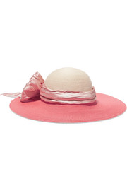 Eugenia Kim Honey satin faille-trimmed hemp sunhat