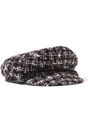 Eugenia Kim Marina chain-trimmed tweed cap