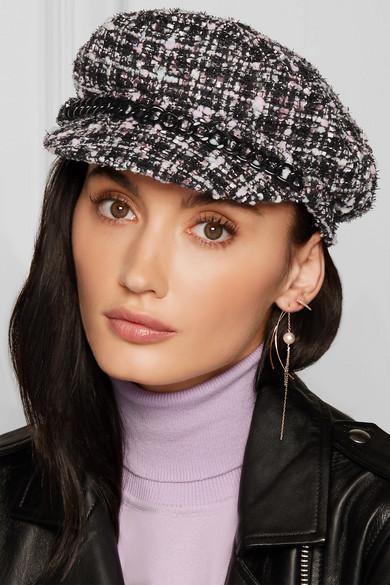 fe9f4e82b8ecb Eugenia Kim. Marina chain-trimmed tweed cap