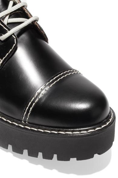 ALEXACHUNG Ankle Boots aus Leder