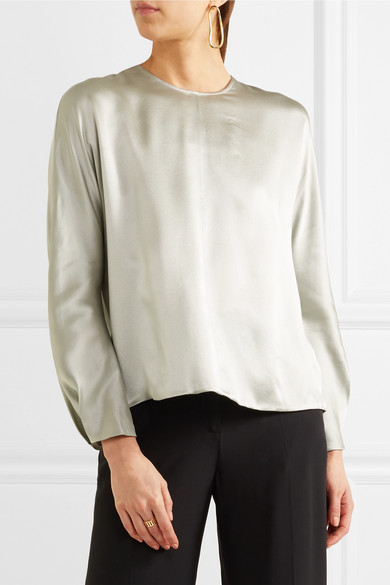 Vince Blouse Made Of Silk Satin