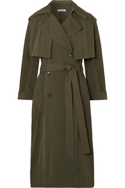 Vince Brushed-twill trench coat