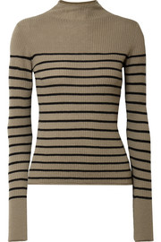Vince Striped ribbed cashmere sweater