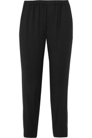 Stretch-crepe slim-leg pants