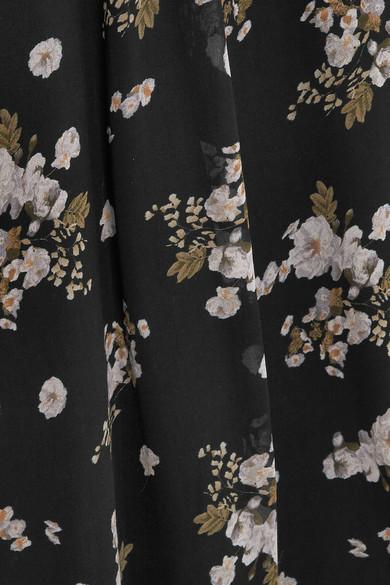 Vince Asymmetrisches Seidenkleid mit Blumenprint