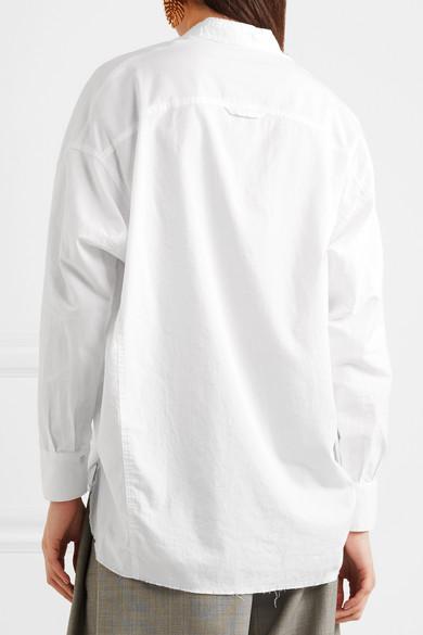Vince Oversized-Hemd aus einer Baumwoll-Seidenmischung mit Fransen Steckdose Neu Auslass Empfehlen Günstig Kaufen Preise Freies Verschiffen Fälschung Billig Verkaufen Bilder 5BDTIPr