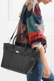 The Bayswater Zipped small textured-leather tote