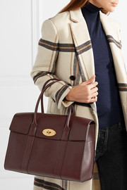 The Bayswater textured-leather tote