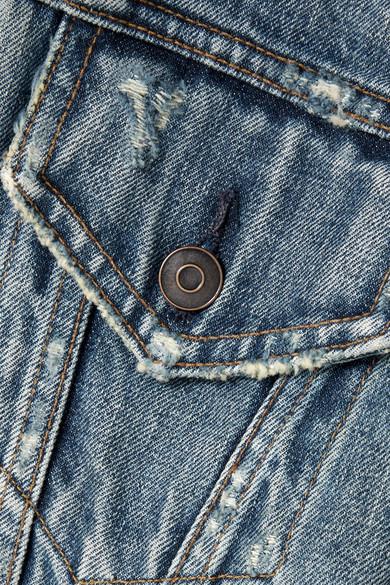 Tre Verkürzte Jeansjacke in Distressed-Optik Billig Verkauf Angebote Billig 2018 Rabatt Aus Deutschland Preiswerter Preis Fabrikverkauf Verkauf Billigsten ESu8OBq