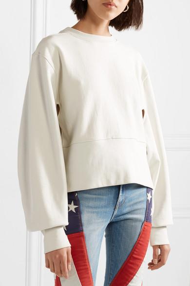 Tre Oversized-Sweatshirt aus Baumwollfrottee mit Cut-outs