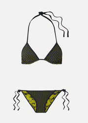 Reversible printed triangle bikini