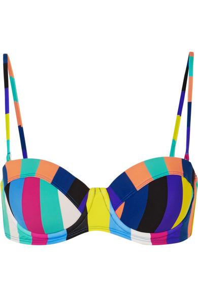 Diane von Furstenberg Gestreiftes Bandeau-Bikini-Oberteil