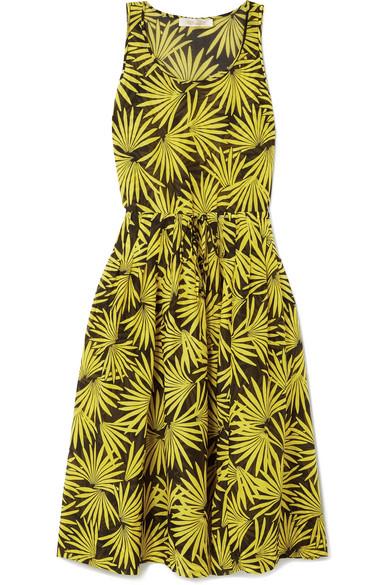 Diane von Furstenberg - Printed Cotton And Silk-blend Voile Midi Dress - Yellow