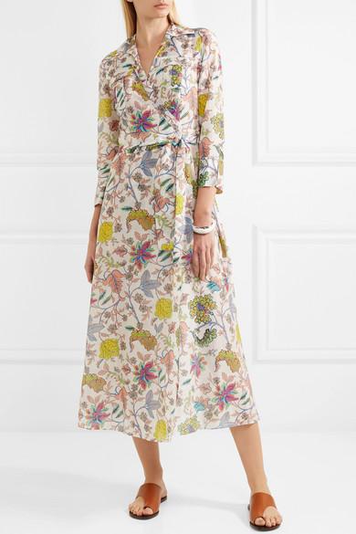 e0e54530d1c6 Diane von Furstenberg | Floral-print cotton and silk-blend wrap midi ...
