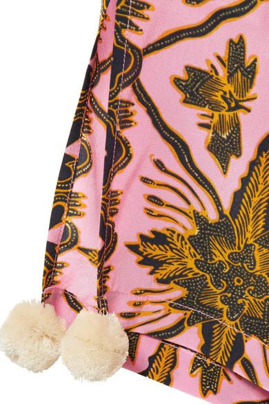100% Authentisch Günstiger Preis Online Gehen Authentisch Verkauf Figue Goa verkürzte Hose mit geradem Bein aus bedrucktem Crêpe de Chine aus Seide Billig Verkauf Angebote Rabatt Perfekt icLT7YD
