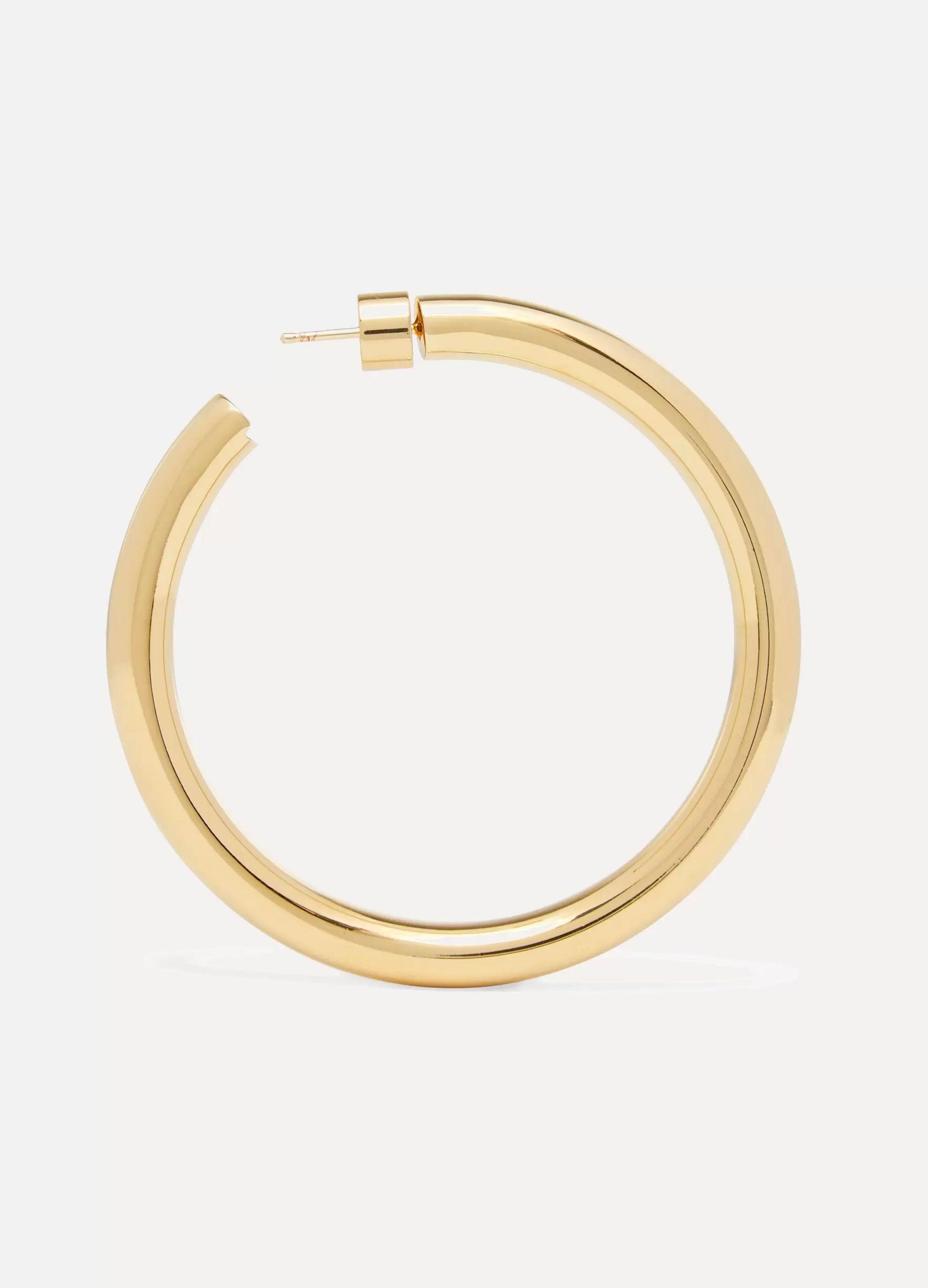 """Jennifer Fisher Samira 2"""" gold-plated hoop earrings"""