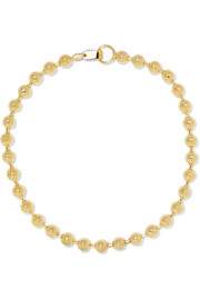 Ball Chain gold-plated choker