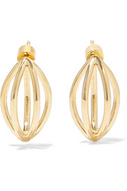 Small Cage gold-plated earrings