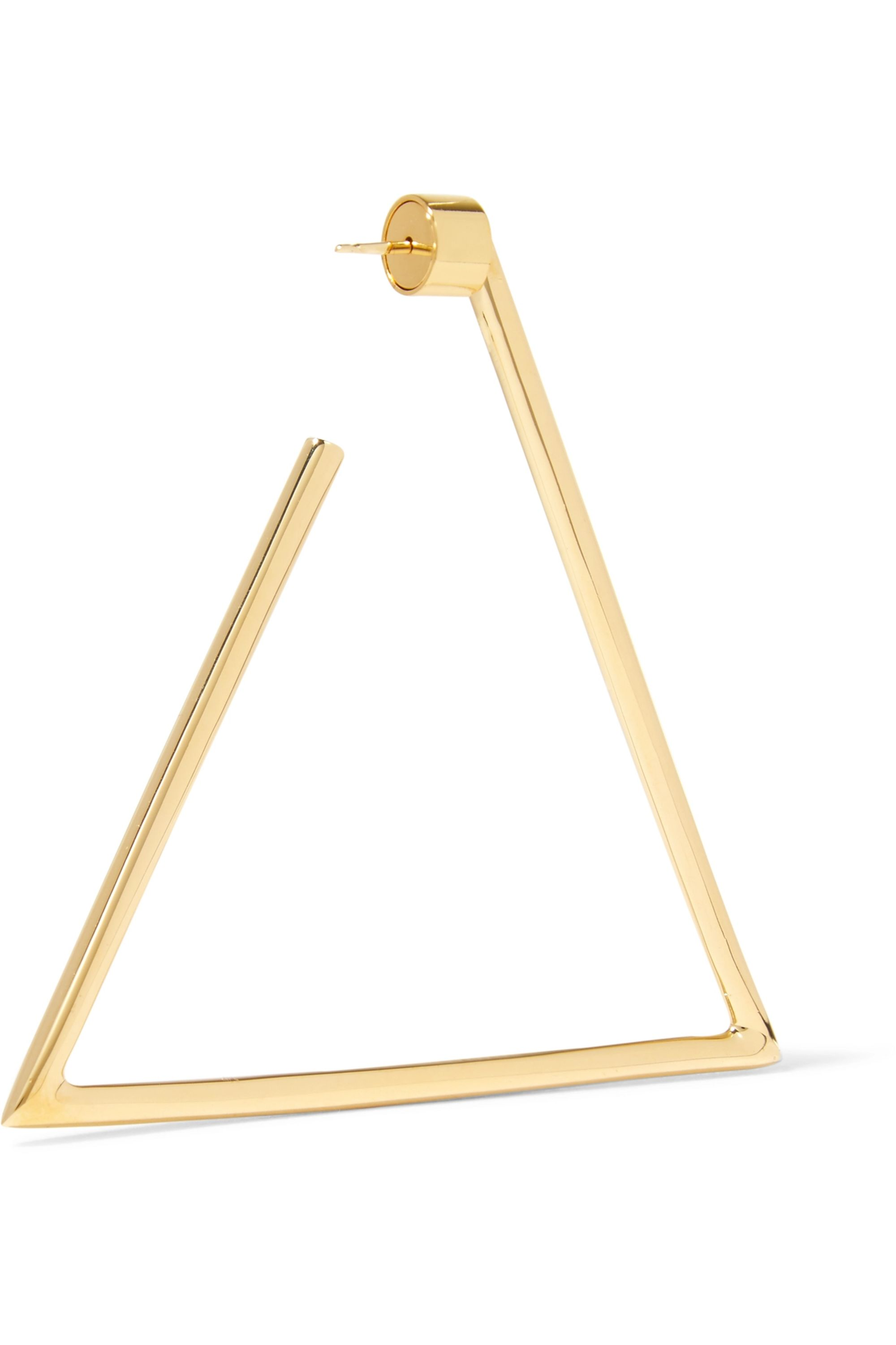 Jennifer Fisher Triangle silver and gold-plated earrings