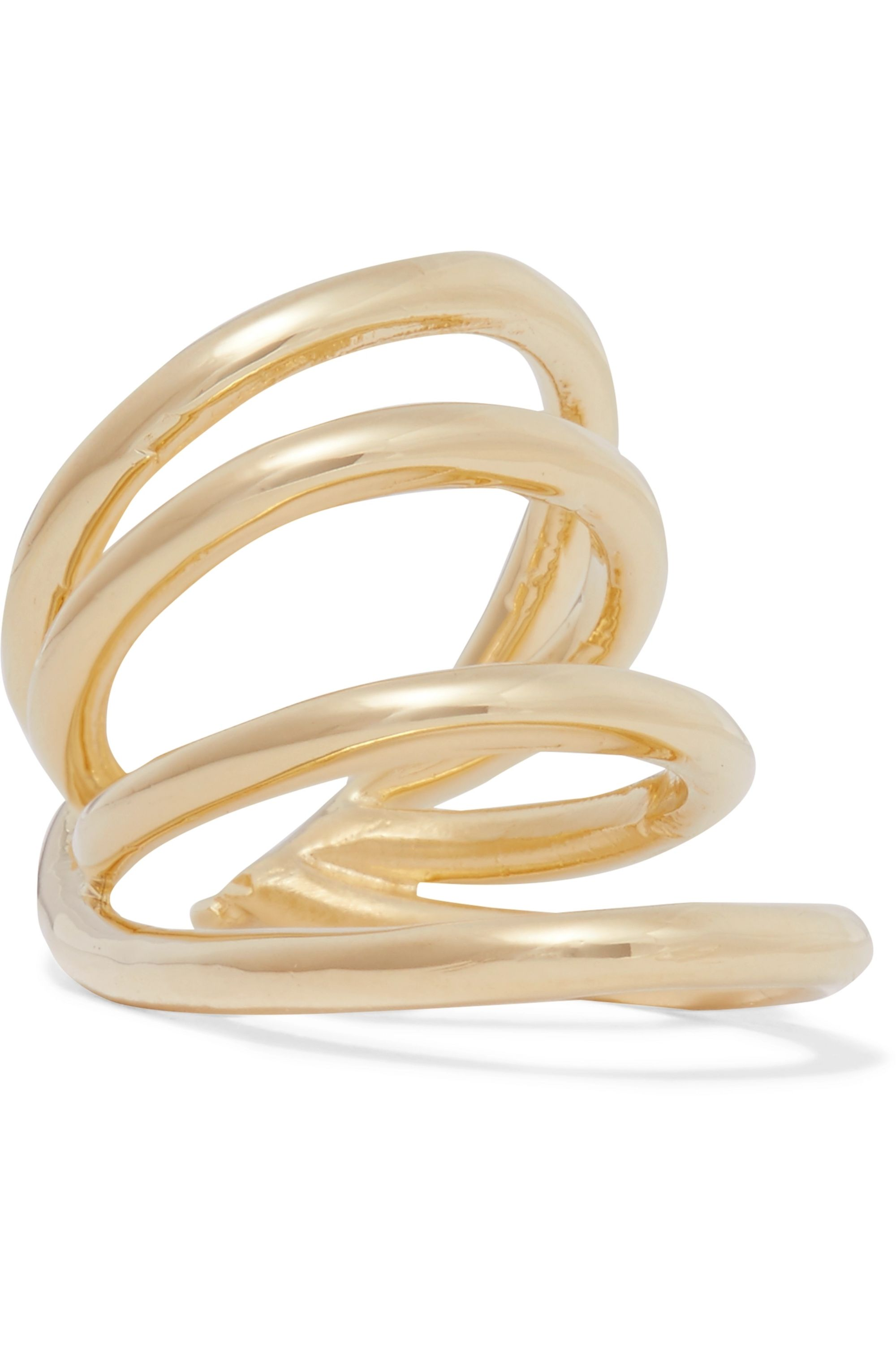 Jennifer Fisher Overlap Circle gold-plated pinky ring