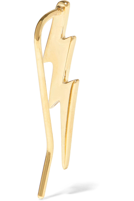 Jennifer Fisher Bolt Ear Crawler gold-plated earrings