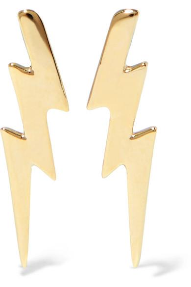 Jennifer Fisher - Bolt Ear Crawler Gold-plated Earrings