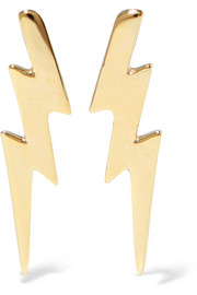 Bolt Ear Crawler gold-plated earrings