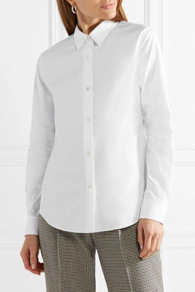 Theory Tenia Hemd aus Piqué aus einer Stretch-Baumwollmischung