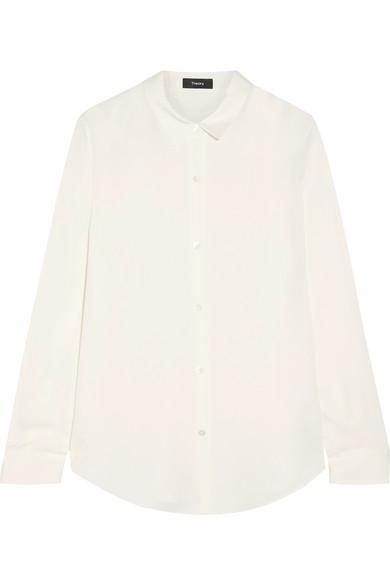 Footlocker Finish Verkauf Online Theory Tenia Hemd aus Crêpe de Chine aus Seide Billig Für Billig Qualität Freies Verschiffen wtn8Mhr1aC