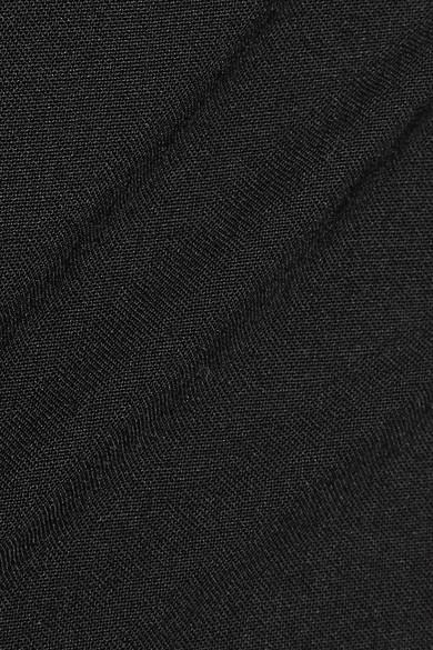 Theory Testra Hose mit schmalem Bein aus Crêpe aus einer Wollmischung