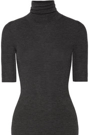 Leenda ribbed merino wool turtleneck top
