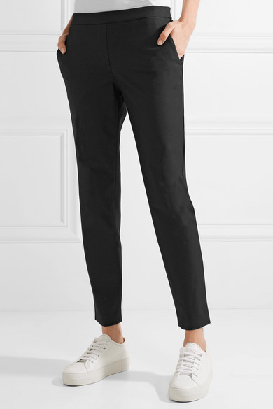 Fast Delivery Visa Payment Cheap Price Thaniel Cropped Stretch Cotton-blend Twill Slim-leg Pants - Black Theory Geniue Stockist Online Extremely Online WtSnlv