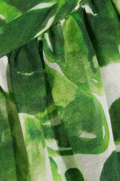 Caroline Constas Hera Rock aus bedrucktem Voile aus einer Baumwoll-Seidenmischung