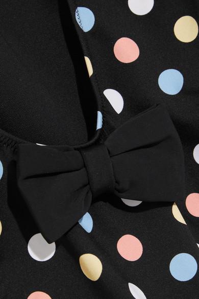 Caroline Constas Clio Badeanzug mit Polka-Dots und Schleife Bestes Geschäft Zu Erhalten Online-Verkauf Freies Verschiffen Begrenzte Ausgabe Factory Outlet Günstig Online mdAHTw02dN