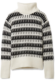 Wyndora intarsia wool and cashmere-blend turtleneck sweater